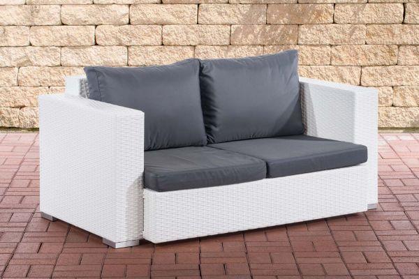2er Sofa Provence / Sunset Eisengrau weiß