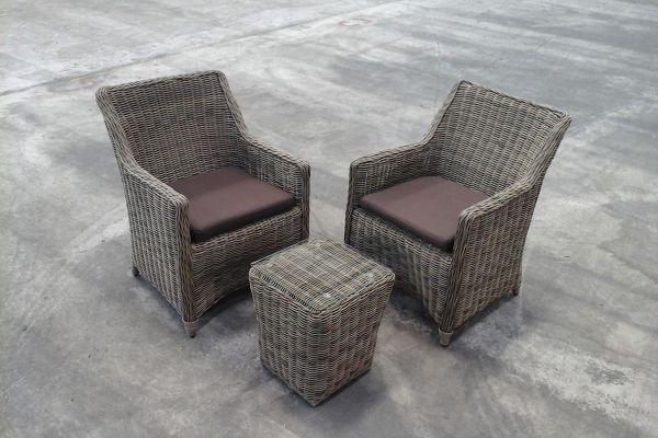 #G 1162: 2x Sessel Sandnes + Beistelltisch Mandal