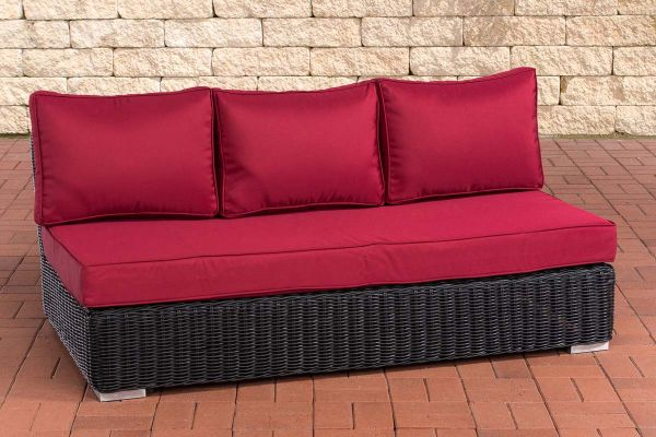 3er Mittelelement Ariano 150 Rubinrot schwarz