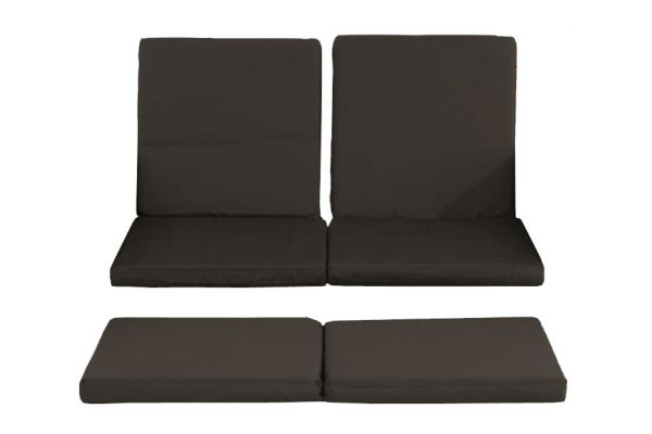 3er-Set Kissenbezüge Sofa Ancona anthrazit