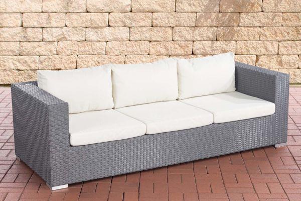 3er Sofa Casablanca cremeweiß grau