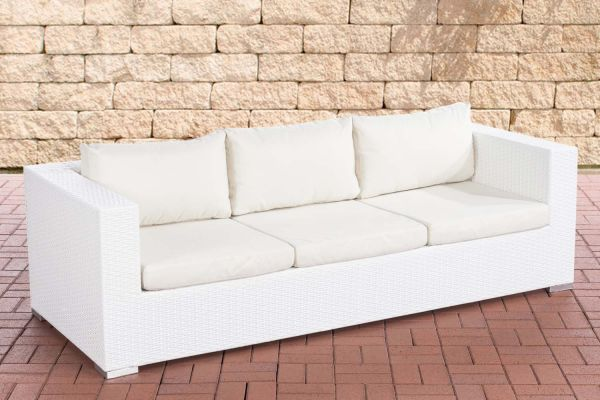 3er Sofa Casablanca cremeweiß weiß