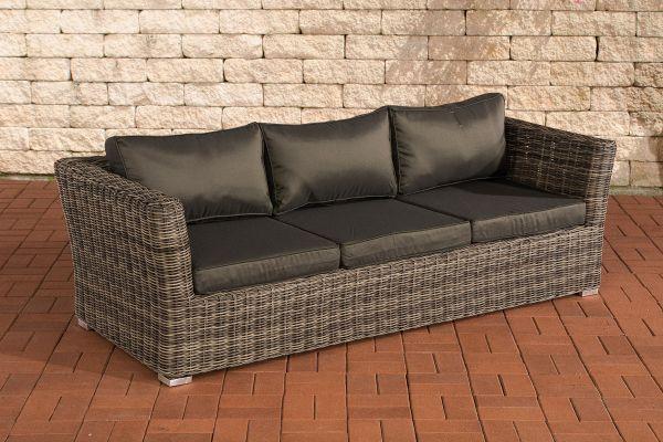 3er Sofa Mandal Anthrazit grau-meliert