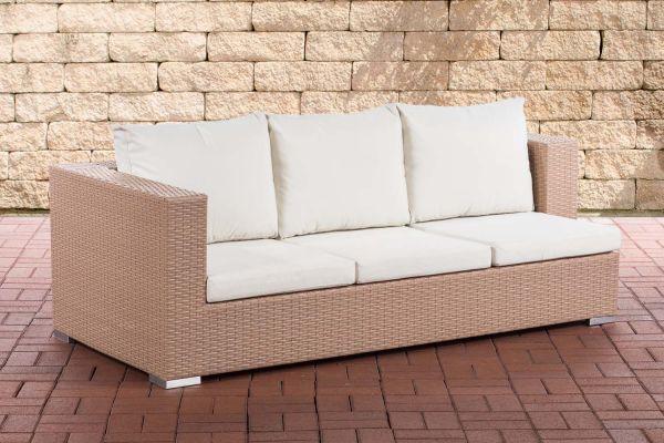 3er Sofa Provence Cremeweiß sand