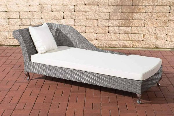 Chaiselongue Savannah cremeweiß grau