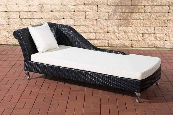 Chaiselongue Savannah cremeweiß schwarz
