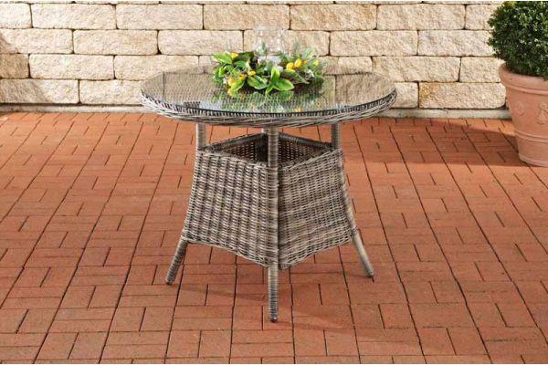 Farsund Polyrattan Tisch grau-meliert