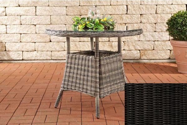 Farsund Polyrattan Tisch schwarz