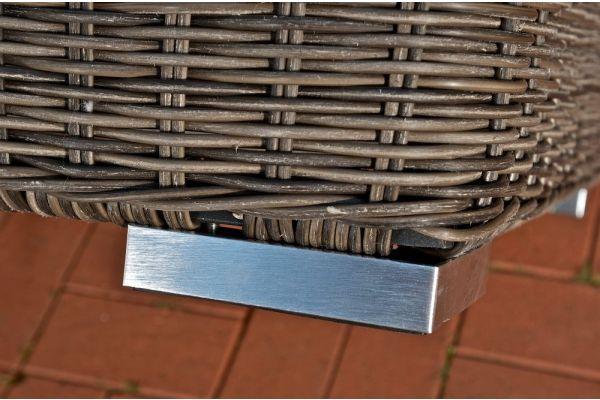 Fußhocker Ariano 56x56 cm Cremeweiss  grau-meliert