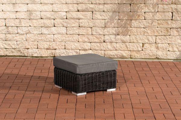 Fußhocker Ariano 56x56cm Eisengrau schwarz