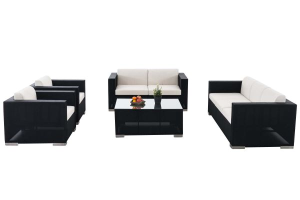 Gartengarnitur Brac XL, Lounge-Set aus Stoff