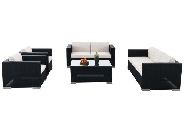 Gartengarnitur Brac XL schwarz