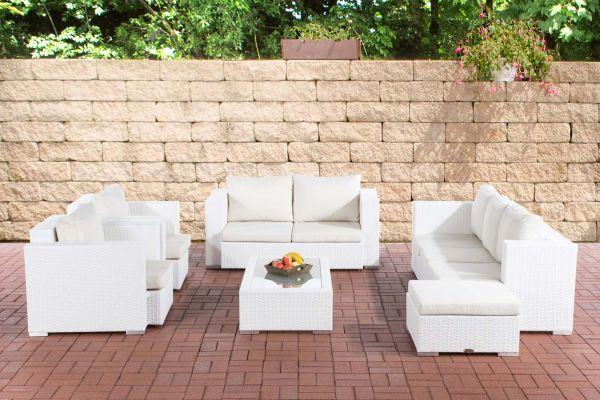 Gartengarnitur Provence Cremeweiß weiß