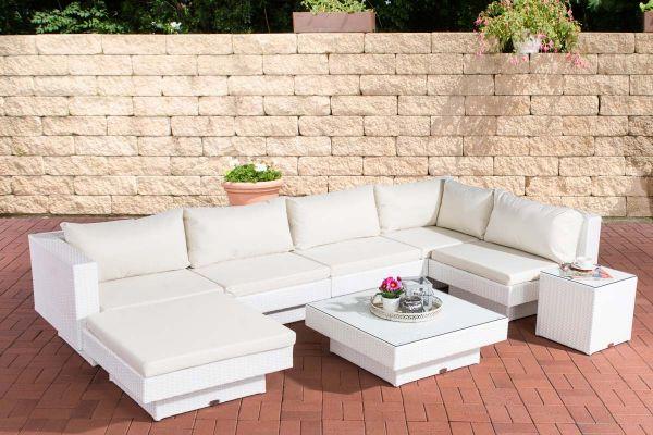 Gartengarnitur Tunis Cremeweiß weiß