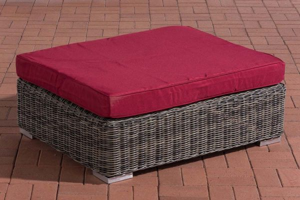 Hocker Pamplona Rubinrot grau-meliert