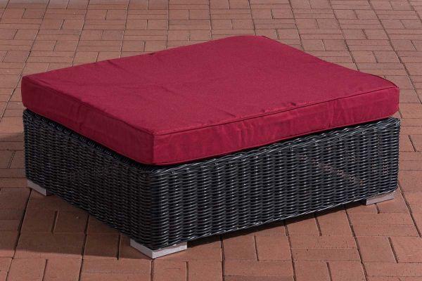 Hocker Pamplona Rubinrot schwarz