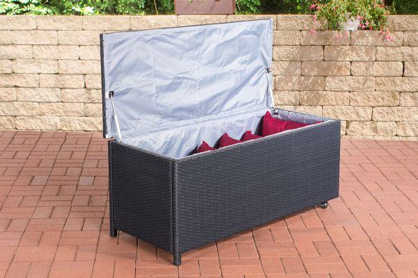 Kudde Auflagenbox 125*53*55cm schwarz