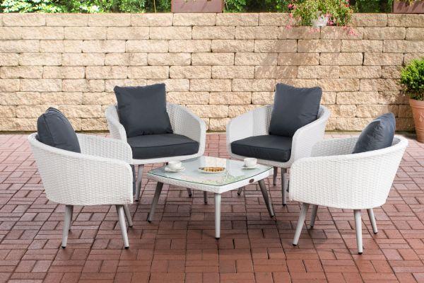 Lounge-Set Ameland Flachrattan Sitzhöhe 45 cm