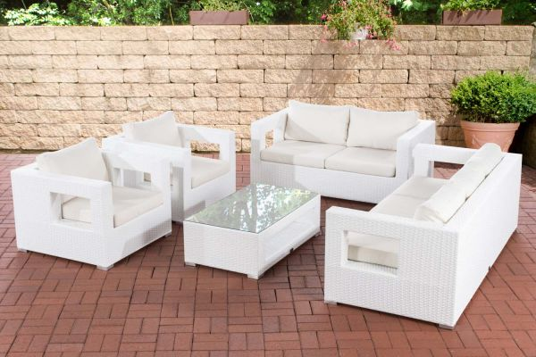 Lounge-Set Honolulu cremeweiß weiß