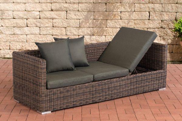 Lounge-Sofa Solano 5mm Anthrazit braun-meliert