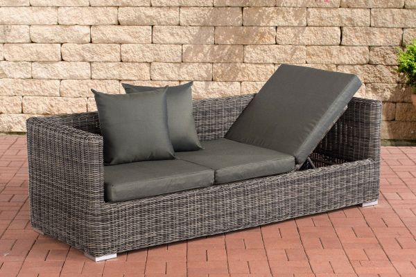 Lounge-Sofa Solano 5mm Anthrazit grau-meliert