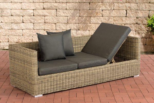 Lounge-Sofa Solano 5mm Anthrazit natura