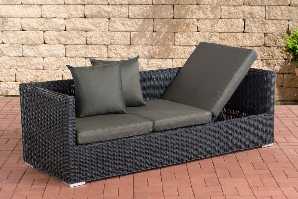 Lounge-Sofa Solano 5mm Anthrazit schwarz