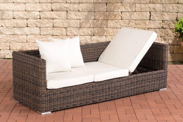 Lounge-Sofa Solano 5mm Cremeweiß braun-meliert