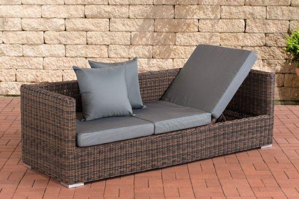 Lounge-Sofa Solano 5mm Eisengrau braun-meliert
