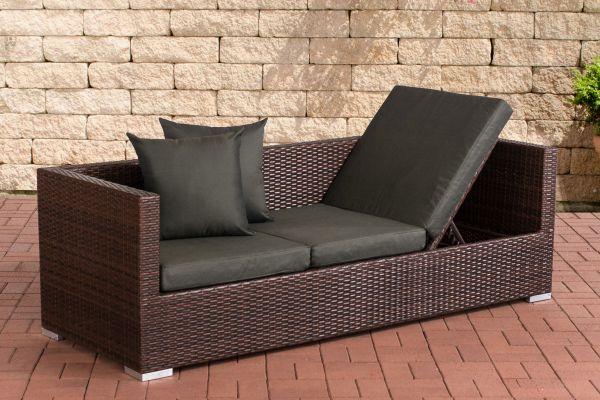 Lounge-Sofa Solano Anthrazit braun-meliert