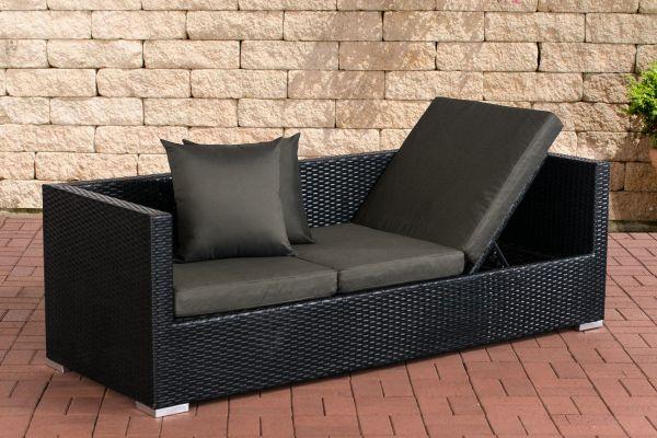 Lounge-Sofa Solano Anthrazit schwarz