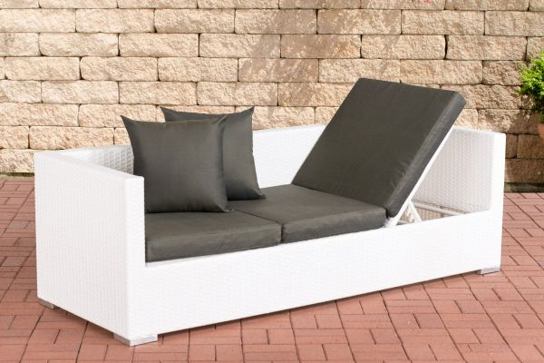 Lounge-Sofa Solano Anthrazit weiß