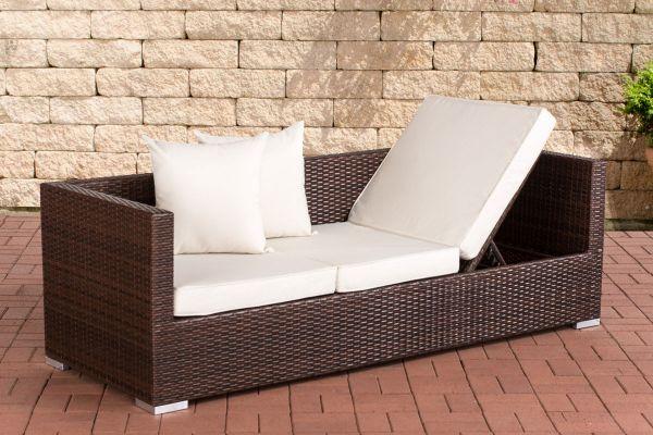Lounge-Sofa Solano Cremeweiß braun-meliert