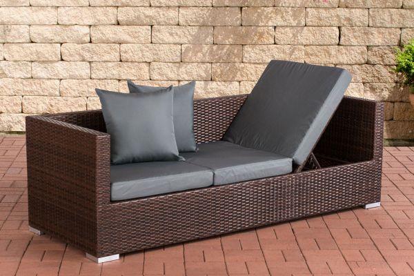 Lounge-Sofa Solano Eisengrau braun-meliert