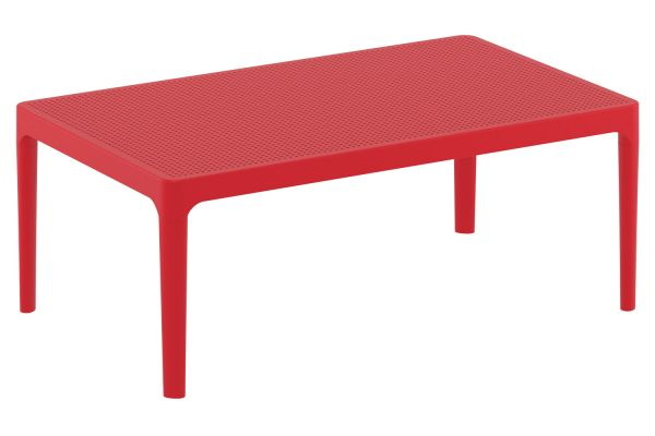 Lounge Tisch Sky rot