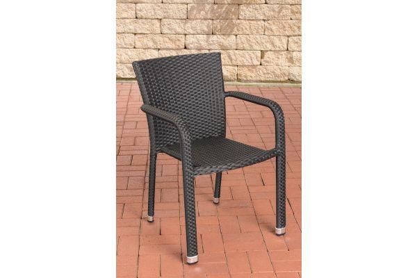 Polyrattan Stuhl Leonie schwarz