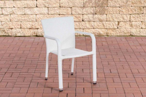 Polyrattan Stuhl Leonie weiß