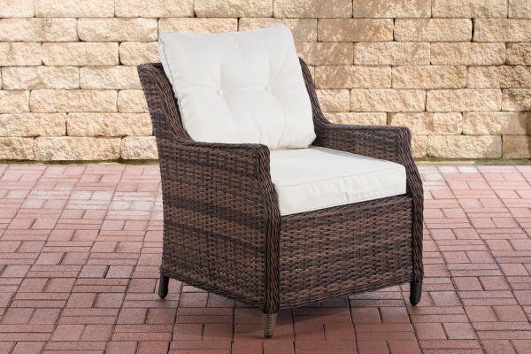 Sessel Pandora Cremeweiß braun-meliert