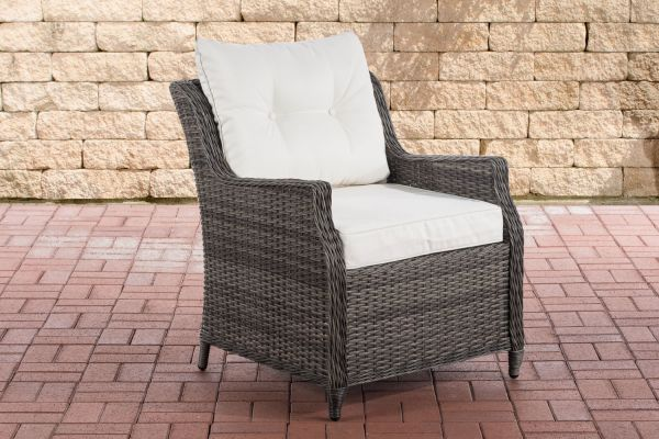 Sessel Pandora Cremeweiß grau-meliert