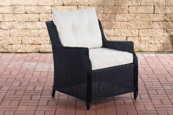 Sessel Pandora Cremeweiß schwarz
