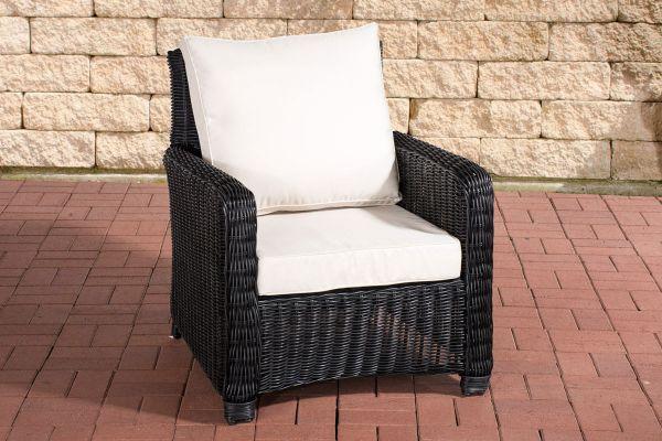 Sessel San Fernando Cremeweiß schwarz