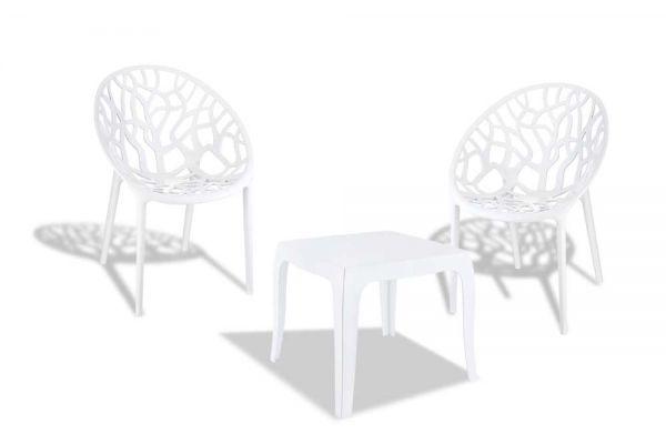 Sitzgruppe Arendal weiß glanz