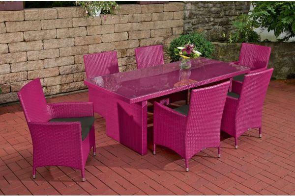 Sitzgruppe Avignon Anthrazit pink