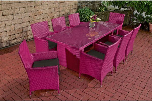 Sitzgruppe Avignon BIG Anthrazit pink