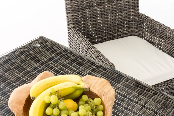 Sitzgruppe Dorado K90 Cremeweiß grau-meliert
