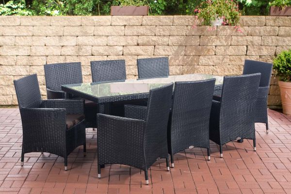 Sitzgruppe Florenz BIG Terrabraun schwarz