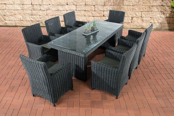 Sitzgruppe Fontana XL Anthrazit schwarz