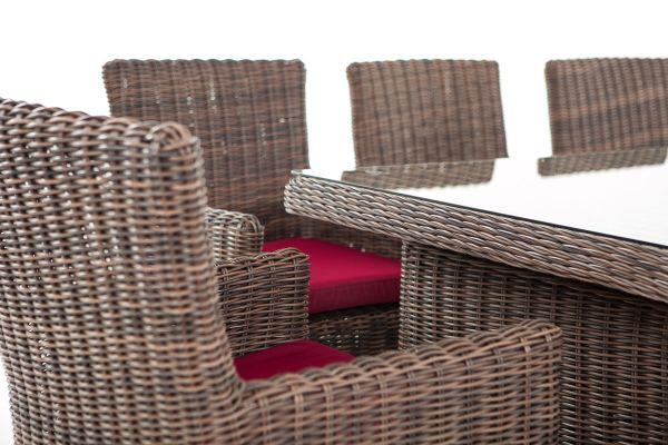Sitzgruppe Fontana XL Rubinrot braun-meliert