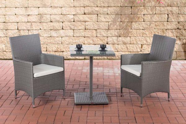 Sitzgruppe Palermo Cremeweiß grau
