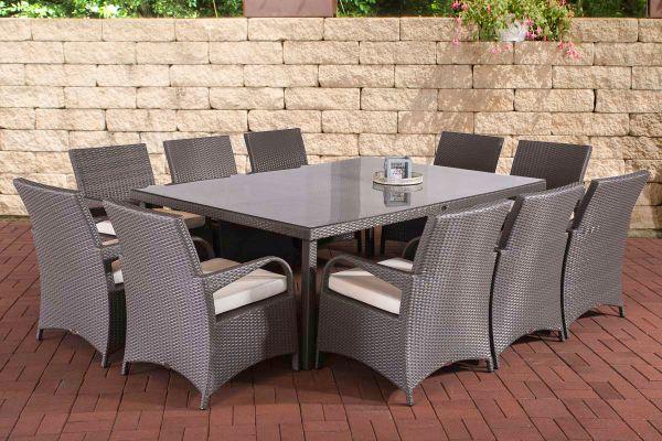 Sitzgruppe Pizzo Cremeweiß grau